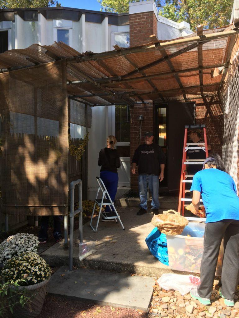 Building the sukkah